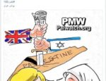 "Česká společnost přátel Izraele anti20Balfour20Cartoon20post-1-150x115 Fatah cartoon portrays Britain and Israel stabbing map of ""Palestine"" with Balfour Declaration Palwatch.org"