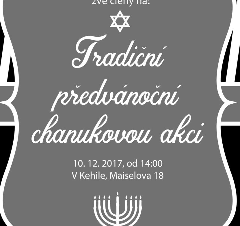 Česká společnost přátel Izraele Pozvánka-831x780 Tradiční předvánoční chanuková akce Kultura Zpravodajství